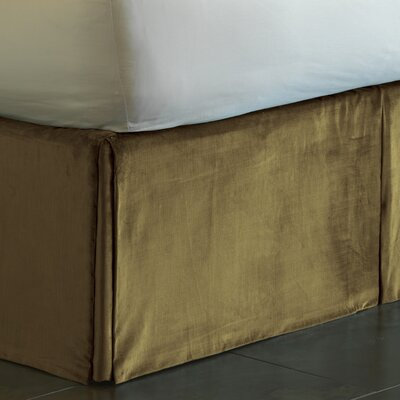 Lucerne Pleated Bed Skirt Size: King, Color: Olive