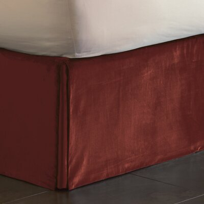Lucerne Pleated Bed Skirt Size: Twin, Color: Spice
