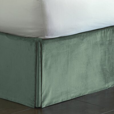 Lucerne Pleated Bed Skirt Size: King, Color: Ocean