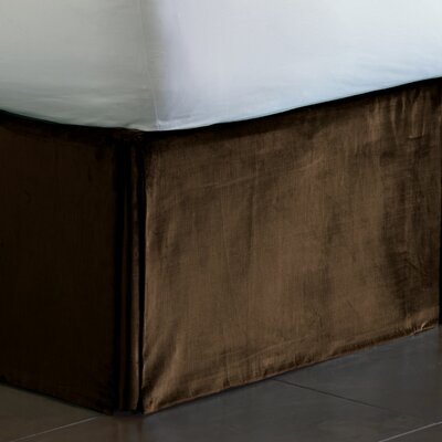 Lucerne Pleated Bed Skirt Size: King, Color: Mocha