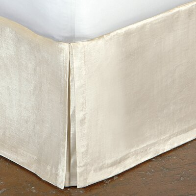 Lucerne Pleated Bed Skirt Size: California King, Color: Ivory
