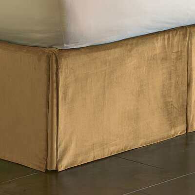 Lucerne Pleated Bed Skirt Size: Queen, Color: Gold