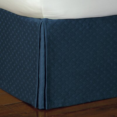 Briseyda Matelasse Bed Skirt Size: King, Color: Indigo
