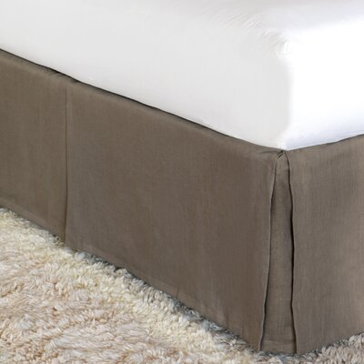 Breeze Bed Skirt Size: California King, Color: Clay