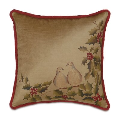 Deck The Halls Two Turtle Doves Throw Pillow