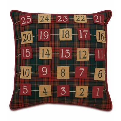 Home for The Holidays Advent Calendar Throw Pillow