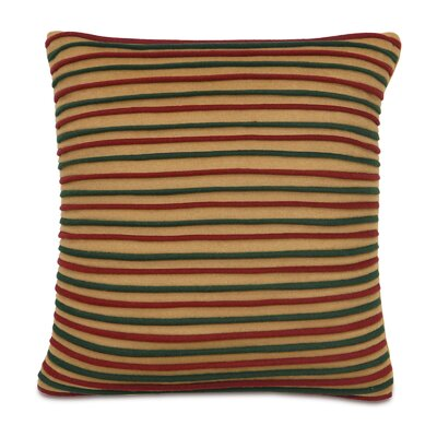 Home for The Holidays Wooly Stripe Throw Pillow