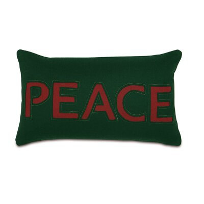 Home for The Holidays Peace Lumbar Pillow