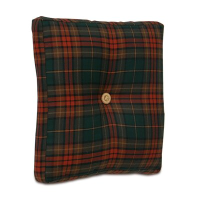 Home for The Holidays Plaid Box Throw Pillow