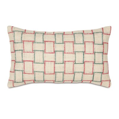 Joyeaux Noel Holiday Woven Lumbar Pillow