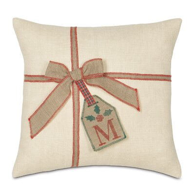 Joyeaux Noel Gift Tag Throw Pillow