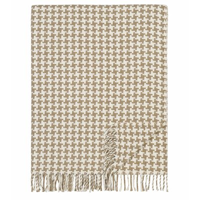London Cotton Throw Color: Beige