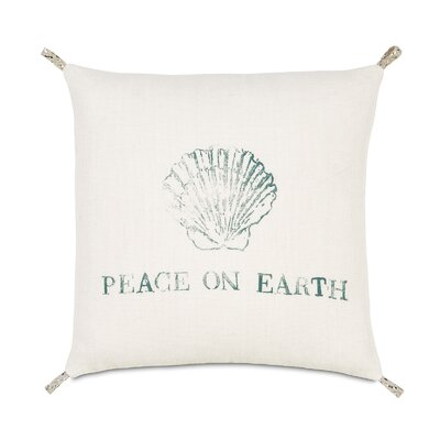 Coastal Tidings Festive Shell Throw Pillow