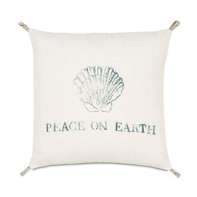 Coastal Tidings Festive Shell Throw Pillow