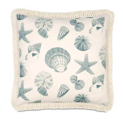 Coastal Tidings Sea Life Throw Pillow