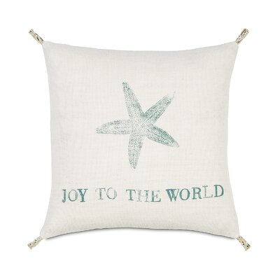 Coastal Tidings Festive Star Throw Pillow