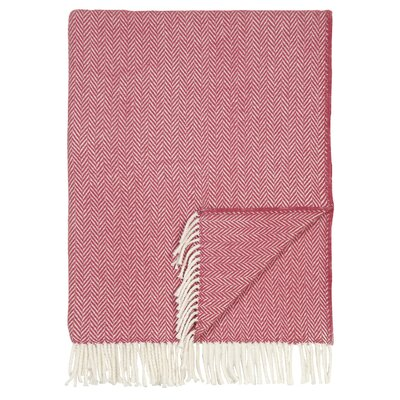 London Cotton Throw Color: Red