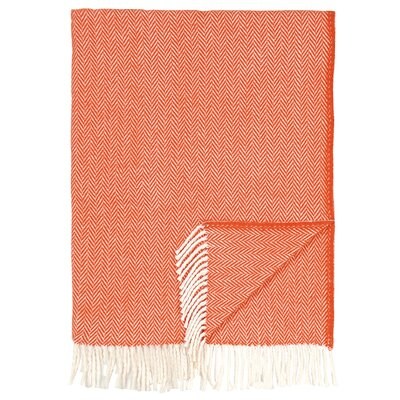 London Cotton Throw Color: Orange