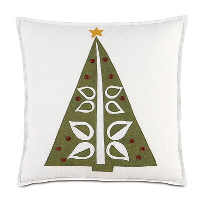 North Pole O Christmas Tree Throw Pillow