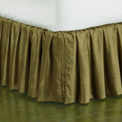 Lucerne Ruffled Bed Skirt Size: Queen, Color: Olive