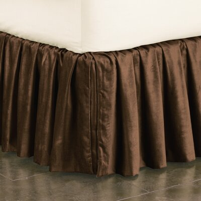 Lucerne Ruffled Bed Skirt Size: Queen, Color: Mocha
