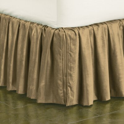 Lucerne Ruffled Bed Skirt Size: Twin, Color: Taupe