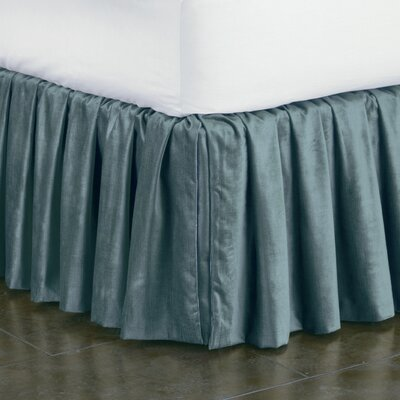 Lucerne Ruffled Bed Skirt Size: King, Color: Ocean