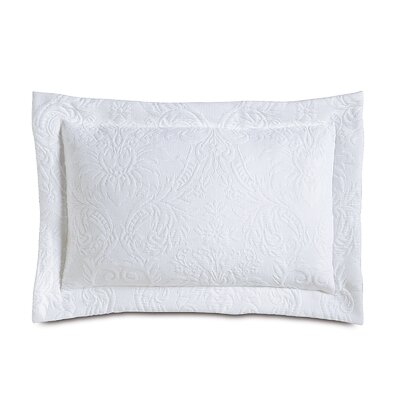 Sandrine Matelasse Cotton Lumbar Pillow Color: White