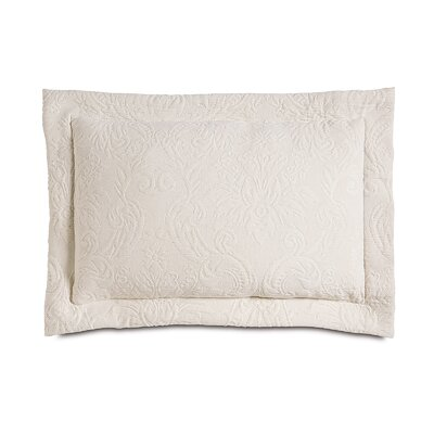 Sandrine Matelasse Cotton Lumbar Pillow Color: Ecru