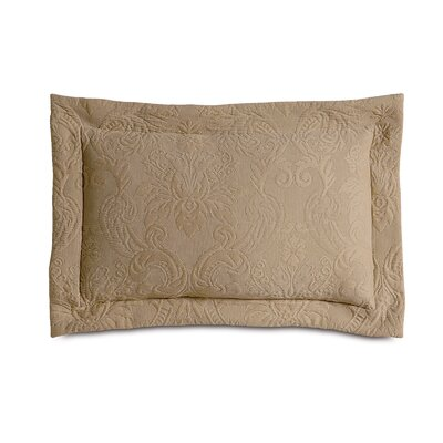 Sandrine Matelasse Cotton Lumbar Pillow Color: Maple