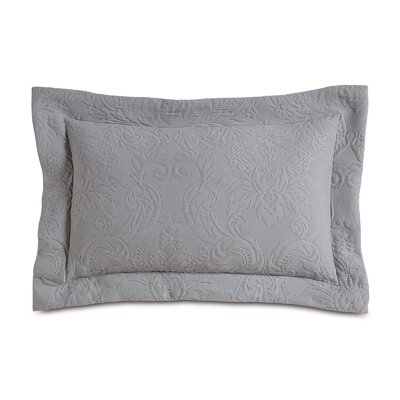 Sandrine Matelasse Cotton Lumbar Pillow Color: Dove