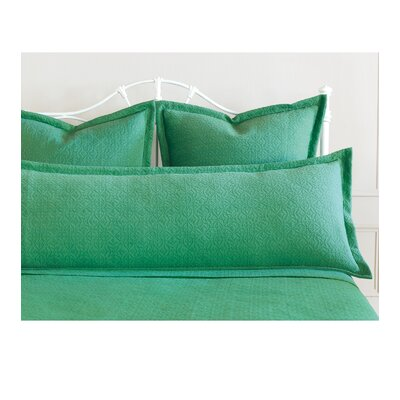 Mea Matelasse Cotton Lumbar Pillow Size: King, Color: Meadow