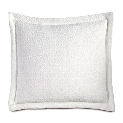 Mea Matelasse Cotton Throw Pillow Color: White