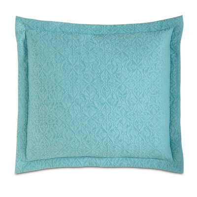 Mea Matelasse Cotton Throw Pillow Color: Aqua