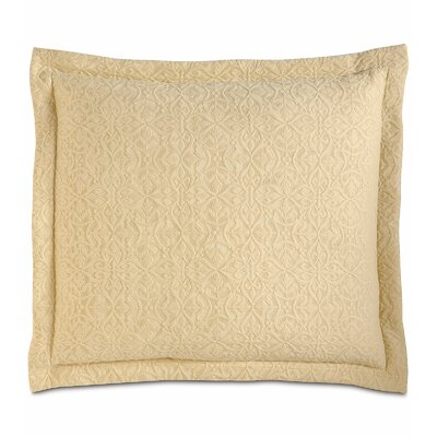 Mea Matelasse Cotton Throw Pillow Color: Sunshine