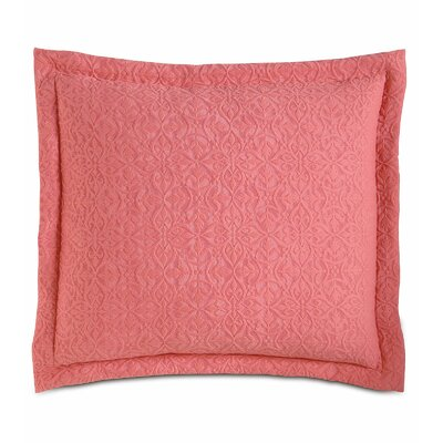 Mea Matelasse Cotton Throw Pillow Color: Coral