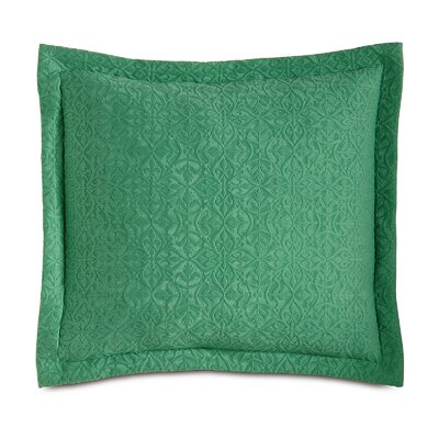Mea Matelasse Cotton Throw Pillow Color: Meadow