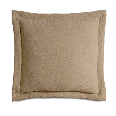 Sandrine Matelasse Cotton Throw Pillow Color: Maple