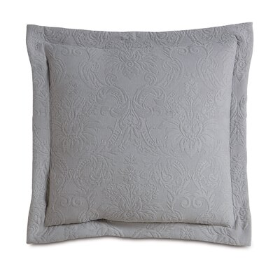 Sandrine Matelasse Cotton Throw Pillow Color: Dove