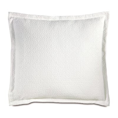 Mea Matelasse Sham Color: White, Size: King