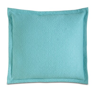 Mea Matelasse Sham Size: King, Color: Aqua