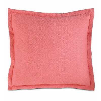 Mea Matelasse Sham Color: Coral, Size: King