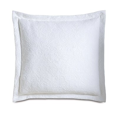 Sandrine Matelasse Sham Size: King, Color: White