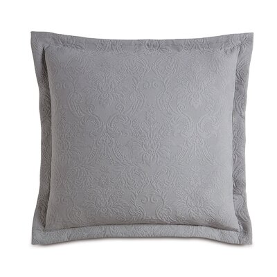 Sandrine Matelasse Sham Color: Dove, Size: King