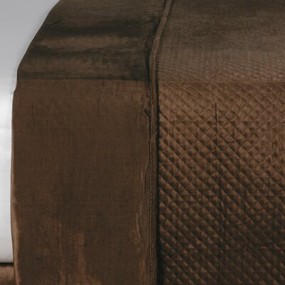 Lucerne Reuss Light Weight Coverlet Size: Super Queen, Color: Mocha