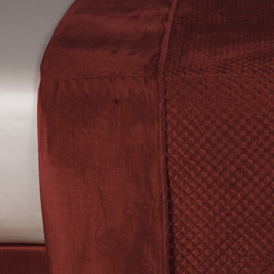 Lucerne Reuss Light Weight Coverlet Size: Super King, Color: Spice