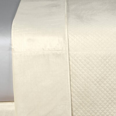 Lucerne Reuss Light Weight Coverlet Color: Ivory, Size: Super King