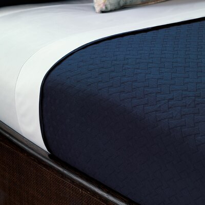 Briseyda Matelasse Coverlet Size: Queen, Color: Indigo
