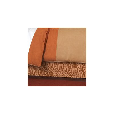 Mondrian Bed Skirt Size: King, Color: Canyon