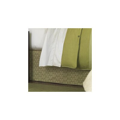 Mondrian Bed Skirt Size: Queen, Color: Leaf